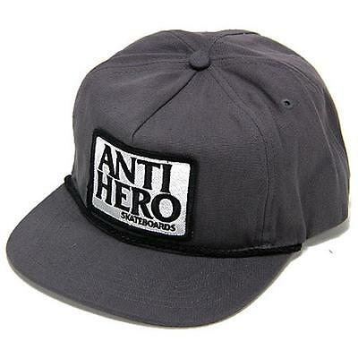 Anti Hero Reserve Patch Unstructured Adjustable Hat Grey