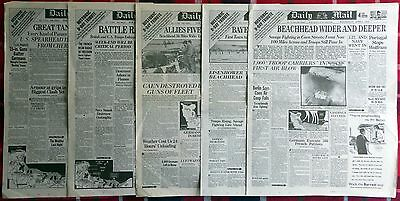 Daily Mail Newspaper Historic D-Day June 1944 Facsimile Collection