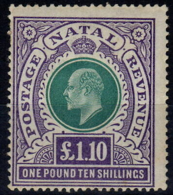 Natal 1902 £1.10s Green & Violet SG143 Fine & Fresh Very Lightly Mtd Mint