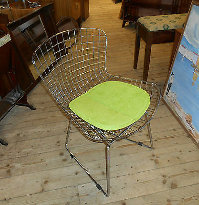 Harry Bertoia  Style Chair Reproduction Chrome Finish 1950s retro design