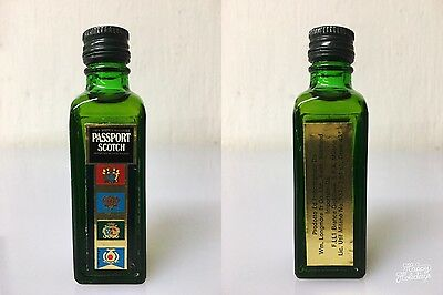 Mignon Miniature Passport 100% Scotch Whisky 2.84cl 43% Vintage