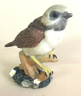 CHRISTMAS SALE Collectable Hand Painted Bird Figurine ~ Garden Wren on Branch