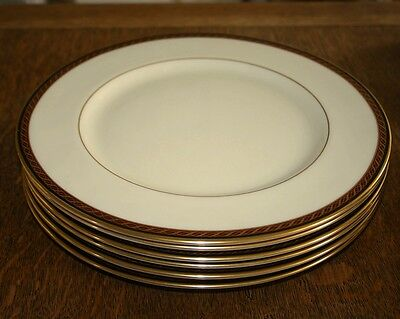 Lenox Monroe Presidential Collection Set of 6 Dinner Plates  - SUPERB