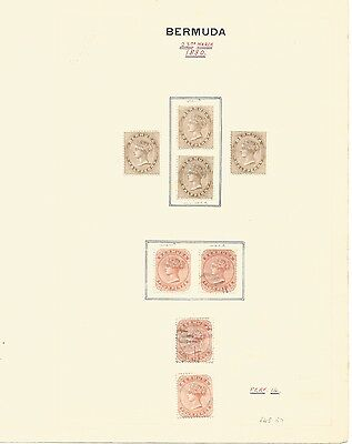 Bermuda Collection on 13 Pages. QV-GV Mint & Used Better Items Throughout