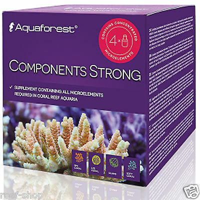 Aquaforest Components Strong - 4 x 50ml Reef Microelements FREE USA SHIPPING!