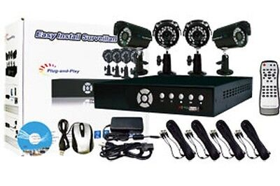 Panacom K-RUSH-8BA-D 4 Camera 8-Channel Security Cam System with DVR Indoor NEW!