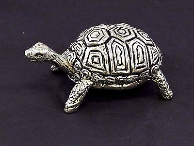 Tortoise English Pewter Pin Cushion by A E Williams Birmingham UK Boxed