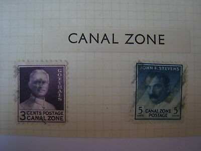 Canal Zone 2 Nice Old Used Stamps As Shown On My 3 Photos