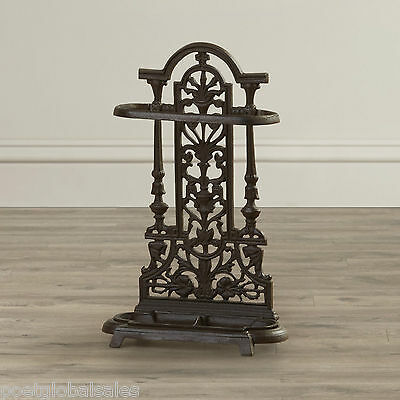 Cast Iron Umbrella Stand Storage Traditional Hall Hallway Entryway Freestanding
