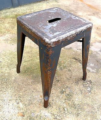 Vintage Industrial Distressed Metal Tolix French Cafe Stool Xavier Pauchard
