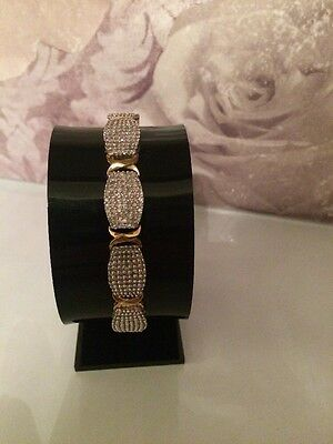 "9ct Yellow Gold 5ct Diamond Bracelet 7.5"" / 19cm"