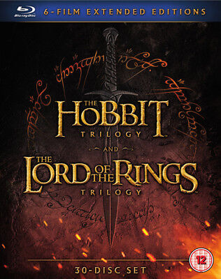 The Hobbit Trilogy/The Lord of the Rings Trilogy: Extended... Blu-ray (2016)