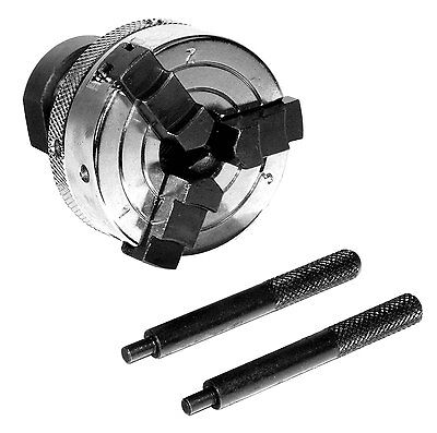 """3-Jaw x 2"""" Lathe Mini Chuck Fits 3/4-16 and 1-8 Spindles - Reversible Jaws New"""