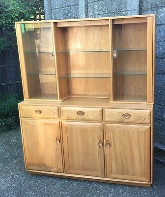Outstanding Modern Ercol Windsor Display Cabinet Cost £5500 Showroom Condition