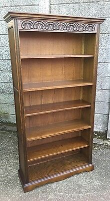 Fine  Old Charm Oak Bookcase Very Clean 2 Man Delivery Available