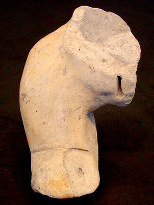 Authentic PRE-COLUMBIAN Female EFFIGY TORSO LEG / MEXICO Colima MAYAN Aztec INCA