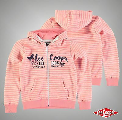 Junior Girls Designer Lee Cooper Stylish All Over Print Zip Hoody Size Age 7-13