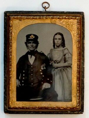 THOMAS DRURY in NAVY UNIFORM Antique AMBROTYPE Photo BATTLE OF NAVARINO