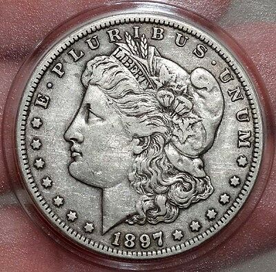 Antique 1897 S United States MORGAN SILVER DOLLAR Coin / Ungraded