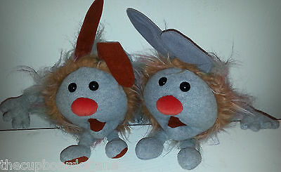Vintage Big Comfy Couch Plush FUZZY AND WUZZY DUST BUNNY BUNNIES