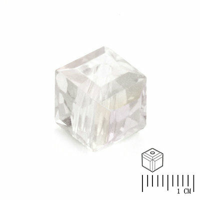 100pcs Crystal Beads Cube Square Loose Spacer DIY Jewelry AB Crystal  4mm