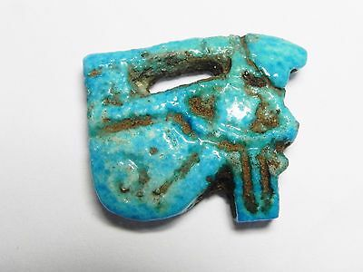 ZURQIEH - af981- ANCIENT EGYPT. NICE FAIENCE EYE OF HORUS AMULET. 1400 B.C
