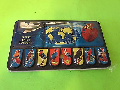 Vintage Page London Tin Lithograph Paint Box  Never Used 35 Colors 172/35(Ps6B)