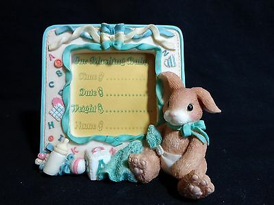 My Blushing Bunnies New Baby Photo Frame 295760 Enesco 1997 Priscilla Hillman
