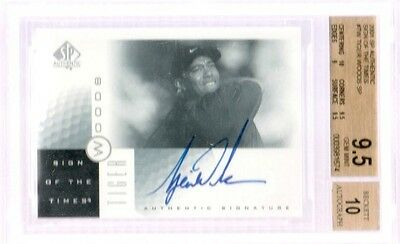 2001 UD SP Authentic Sign of the Times SOTT Tiger Woods BGS 9.5 10 Rookie Auto