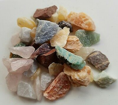 1/4 Lb Small Crafters rock collector Mix Gems Crystals Natural Mineral Specimen