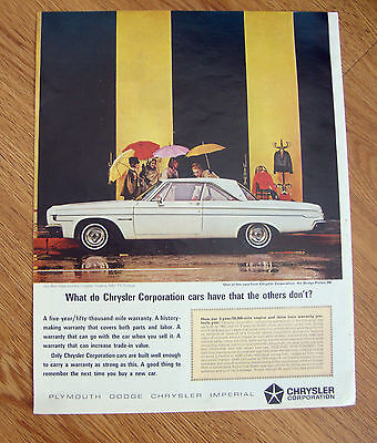 1964 Dodge Polara 500 Ad  Cars Have That the Others Don't?