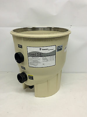 Pentair Quad D.E. Bottom Pool Filter Assembly Tank P/N 195999