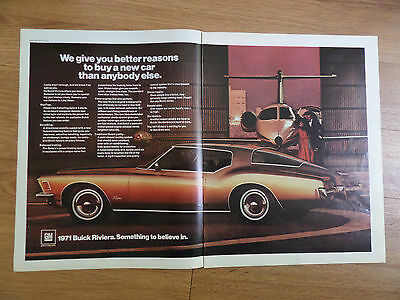 1971 Buick Riviera Ad  at the Airport