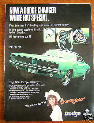 1969 Dodge Charger Ad  White Hat Special