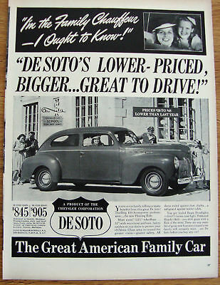 1940 DeSoto DeLuxe Coupe Ad Gainsville School