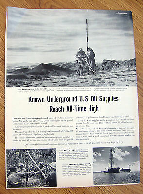 1951 Article Oil Ad US Madden Anticline Lander Wyoming