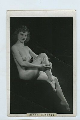 Risque Photo Stripper Windmill Theatre London c1940s/50s Diana Russell Nude