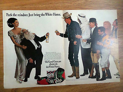 1966 Whiskey Whisky Ad Christmas Park the Reindeer