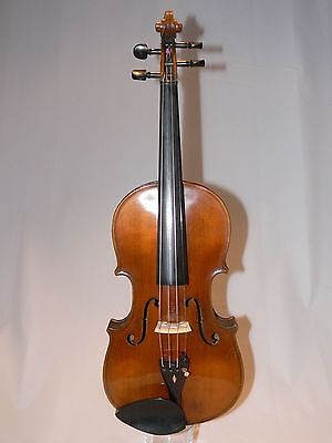 Beautiful, Fine, Old, Full Size Violin (4/4) With Nicely Flamed Two Piece Back