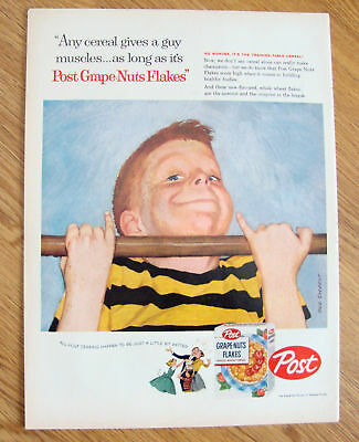 1958 Post Cereal Ad Sargent Art Little Boy Pull Ups