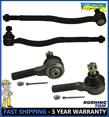 Front Inner & Outer Tie Rod Ends Kit Fits 1989 Tracker 1989 Sidekick 1998 GMC