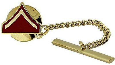 USMC Marine Corps Tie Tack Official Anodized Chevron Private First Class PFC