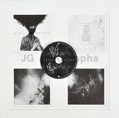 Royal Blood - English Rock Duo - Autographed Custom Triple-Matted CD Display
