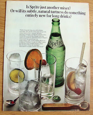 1964 Sprite Soda Ad   Is Sprite Just another Mixer?