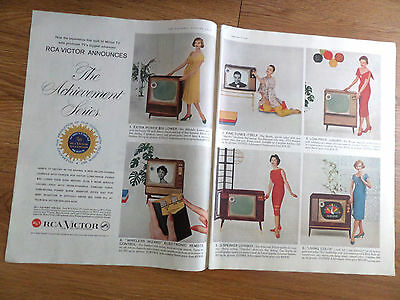 1958 RCA Victor TV Television Ad Shows 6 Models