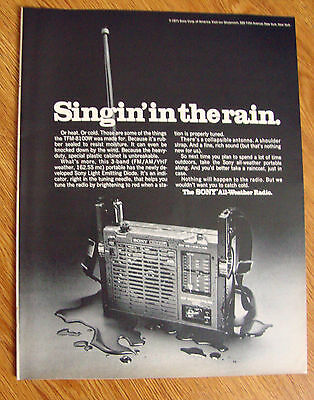 1970 Sony's All-Weather Radio Ad  Singing in the Rain