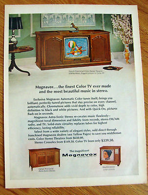 1968 Magnavox TV Ad French Provincial Color Stereo