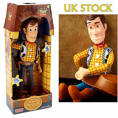 """Genuine UK 16"""" WOODY Talking Doll Toy Story 3 Pull String Figure Sheriff Cow Boy"""