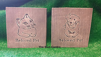Pet Memorial Stone Plaque Gravemarker *Dog Or Cat* COLLECT OR POST
