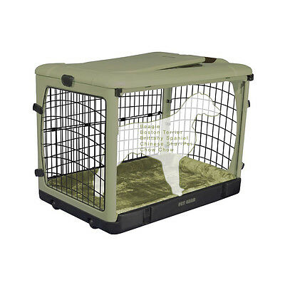 "Pet Gear The Other Door Deluxe Steel Dog Pet Crate w/ Bolster Pad 36"" Sage"